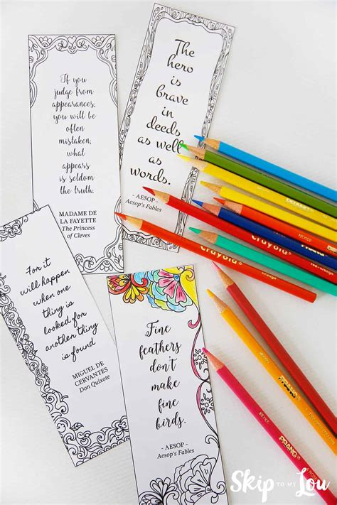 coloring bookmarks  inspirational quotes    read
