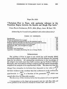 Cameron Hydraulic Data Pdf Colebrook White 1939 Número De Reynolds Turbulencia