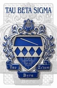 Tau beta sigma band sorority 11 x 17 art print ebay for Tau beta sigma letters
