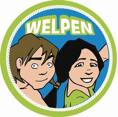 Welpen Insignes Uniform Scouting Delmo Groep Welkom