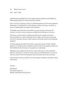 College Student Recommendation Letter Sample