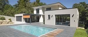 Maison a ossature bois contemporaine avec piscine et for Piscine avec terrasse en bois 7 maison contemporaine avec piscine interieure apla