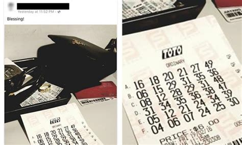 Huat Ah! Man's Photo Of Lottery Ticket With Winning Toto