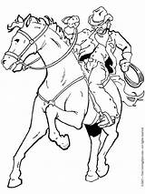 Cowboy Coloring Pages Horse Printable Boys Cowboys Adult Drawing Western Horses Books Rodeo Colouring Cowgirl Drawings Riding Cartoon Kid Printables sketch template