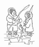 Eskimo Coloring Xxx Pages Sheets Popular sketch template
