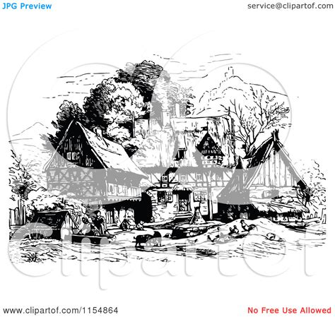 White Villages Clipart Clipground