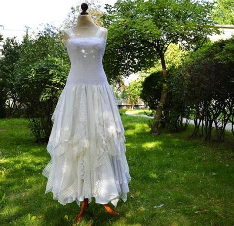 shabby chic bridesmaids dresses upcycled wedding dress fairy tattered romantic dress upcycled woman s clothing shabby chic funky