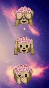 Monkey Emoji iPhone Wallpaper