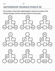 Math Puzzle Worksheet For Kids