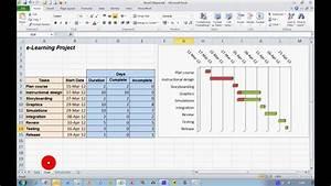 Gantt Charts In Excel How To Create A Progress Gantt Chart In Excel 2010
