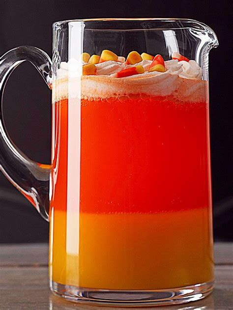 corn drink halloween drink punch recipes orange drinks candy corn and punch