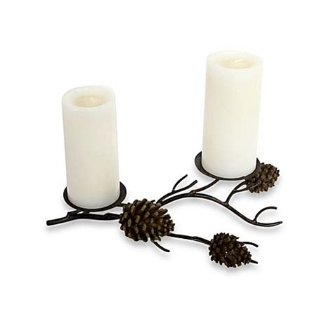 pine cone table pillar candle holder bed bath beyond