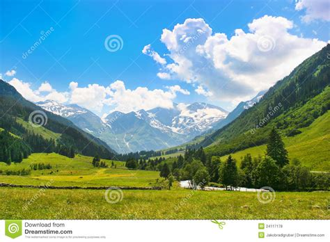 romantic summer nature landscape stock photo image