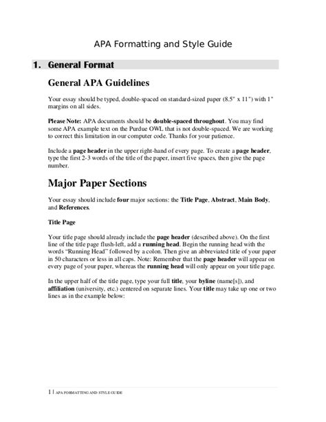 Format Your Essay Apa Style by Apa Format