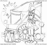 Outline Soldier Coloring Flag Clipart Canon Royalty Illustration Rf Bannykh Alex sketch template