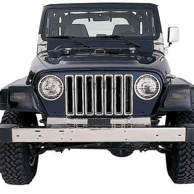 chrome jeep accessories smittybilt part 7511 smittybilt chrome grille inserts