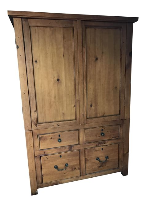 pine television knotty pine tv cabinet armoire chairish