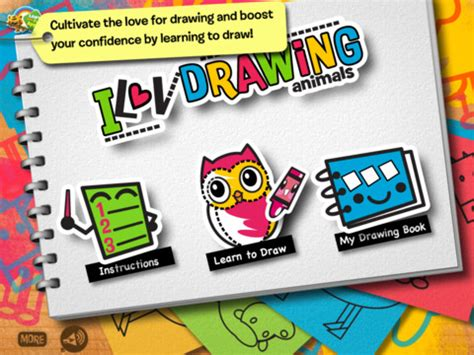 great apps  kids iluv drawing animals reading