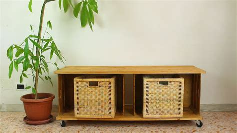 transform wooden crates   storage bench