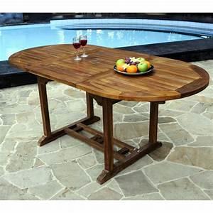 Table Jardin Teck : table en teck de jardin 8 places finition huil e ~ Teatrodelosmanantiales.com Idées de Décoration