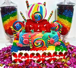 Candy Cakes! Candy Land Crazy Colorful Centerpieces