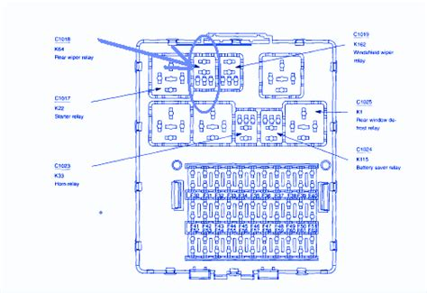 ford focus  main engine fuse boxblock circuit breaker