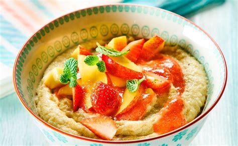 cuisine am駭agement rezept für grießbrei mit nektarine und erdbeersauce lustaufsleben at