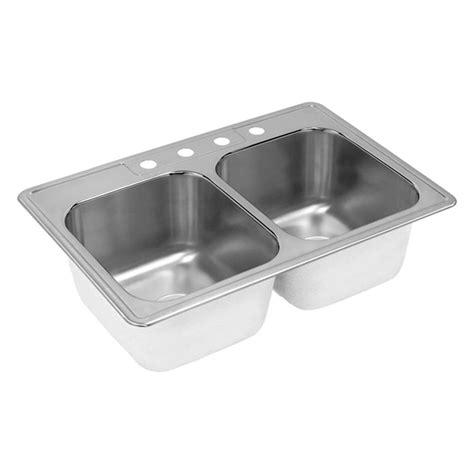 home depot deep sink elkay neptune drop in stainless steel 33 in 4 hole double