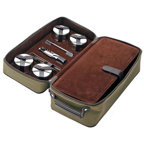 Bar Kit by Dopp Kit Leather Travel Bar Set Leather Travel And Bar