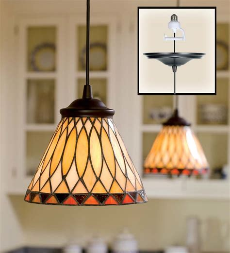 in stained glass pendant light ls lighting