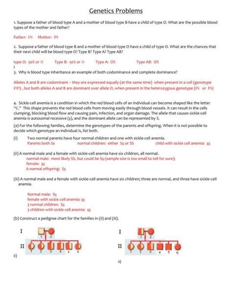 blood type and inheritance worksheet answer key briefencounters