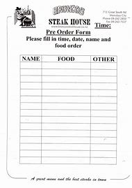 Pretty Menu Order Form Template Images Free Printable Bakery Order