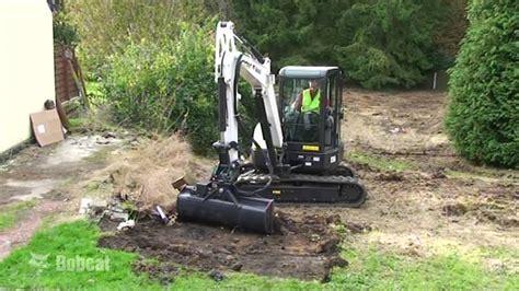 bucket  excavator video bobcat excavator attachments youtube