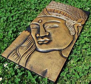 Buddha Holz Bild Gold