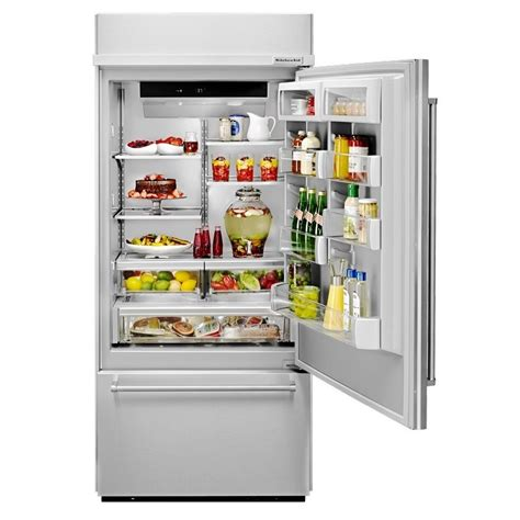 Kitchenaid Refrigerator Built In by Kitchenaid Kbbr206ess Built In Stainless Bottom Mount