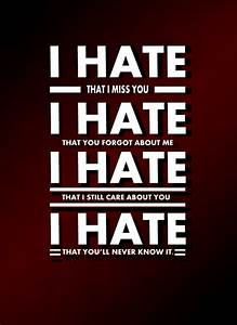 I HATE YOU QUOTES TUMBLR image quotes at hippoquotes.com
