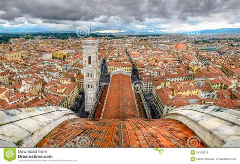 firenze cupola panoramic view of florence from cupola of duomo cathedral