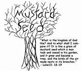 Mustard Seed Coloring Theology sketch template
