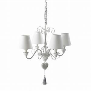 Lustre Baroque Maison Du Monde : lustre blanc ~ Teatrodelosmanantiales.com Idées de Décoration