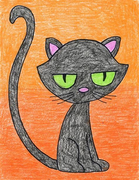 cartoon black cat art projects  kids