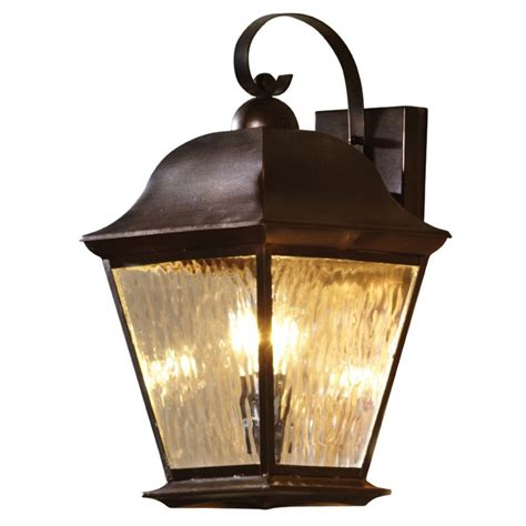 shop allen roth 18 5 in h olde auburn outdoor wall light