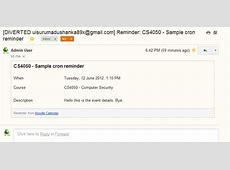 Email reminders for calendar events MoodleDocs