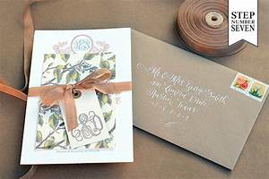 diy tutorial savannah inspired floral wedding invitations With wedding invitations tied with ribbon