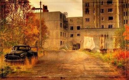 Town Ghost Autumn Pripyat Wallpapers Ghastly Fall
