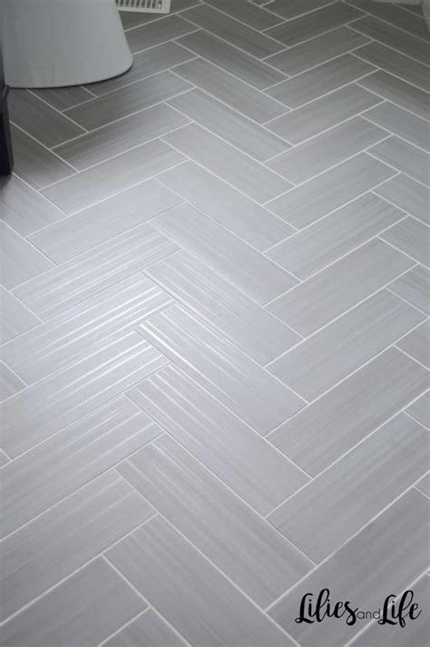 powder room remodel floor design herringbone tile