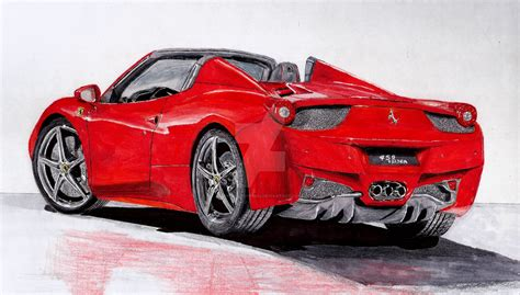 ferrari drawing how to draw a ferrari 458 spider www imgkid com the