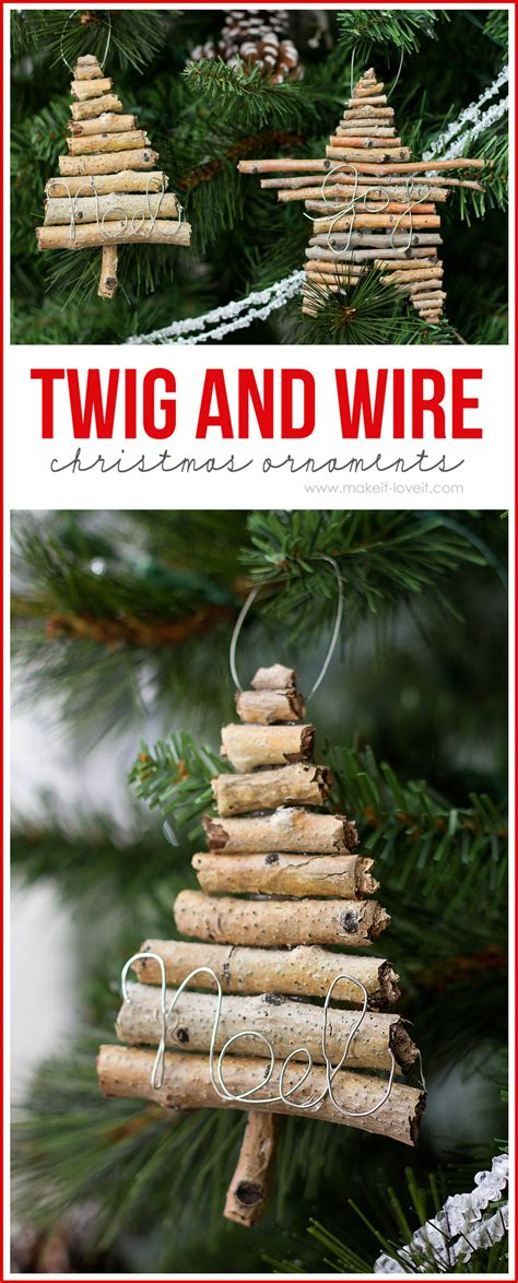 twig  wire christmas ornaments  create
