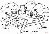 Picnic Coloring Table Bench Colorare Colorear Mesa Tavolo Dibujo Disegni Template Ausmalbild Picnics Picknick Ausmalbilder Disegno Dibujos Perfect Supercoloring Scuba sketch template