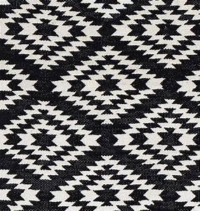 Schwarz Weißer Teppich : liv interior baumwollteppich apache schwarz wei teppich teppich schwarz wei wei er ~ Orissabook.com Haus und Dekorationen