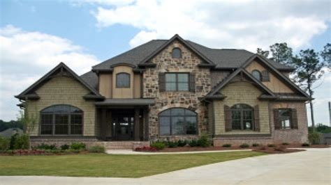 Wood And Stone Homes Pretty Home Exterior, Custom Built